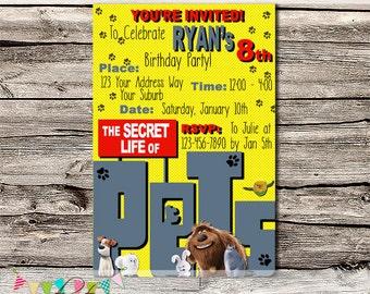 Pets Invitation - Printable - DIY - Digital File - Personalised - Shower - Birthday