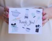 Mixer Bridal Shower Thank You Cards, Wedding