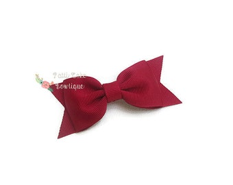 Cranberry Hair Bow, Baby Girl Hair Bow, Hair Accessories, Christmas Bow, Baby Bows, Toddler Hair Bows, Girls Hair Bows, Baby Hair Bow Clip