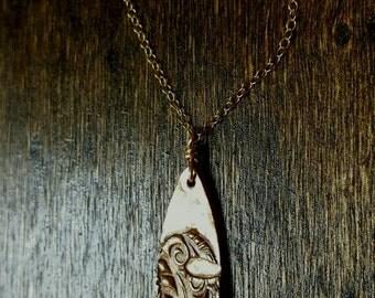 Wave Necklace Bronze and 14 Karat gold-filled