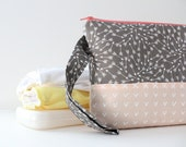 diaper and wipes clutch -- slate arrows