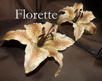 Tribal Fusion ATS Bellydance Floral Hair Clip, Florette