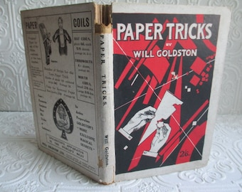 PAPER TRICKS (with Patter) by Will Goldston - Illustrated Antique Book 1919
