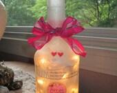 wine bottle lamp, wine bottle lamps, lighted bottles, lighted wine bottles, wine bottle lights, wine bottle light, lighting, lamps, l