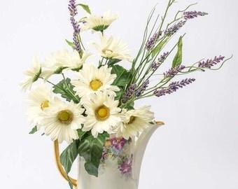 Fine China Coffee Pot Vase / Flower Vase Gold Trimmed / Vintage China Coffee Pot