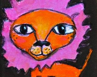 Lion, Original Mini Painting