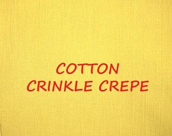 Cotton Crepe Fabric Etsy