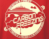 STAR WARS SHIRT Mens or Unisex Shirt. Han Solo Frozen on Cloud City in Empire Strikes Back by Bespins Carbon Freezing Company!