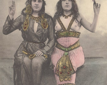 Travelers to the Outer Realms 1. Vintage Postcard, Nude Image, circa 1905.