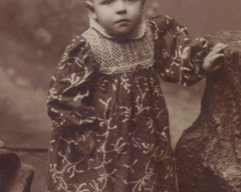 Child in Art Nouveau Mistletoe Gown, circa 1890, Vienna