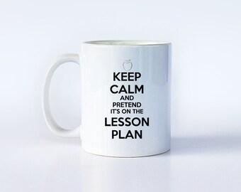 Funny Teacher Mug, Teacher Mug, Teacher Gift Idea, Keep Calm Teacher, Funny Teacher Gift, Gift for Teacher, Teacher Quote, Gift for Teacher