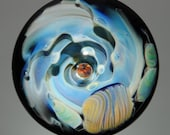 Pacific Swell - Art Glass Orb with Opal by Tim Keyzers