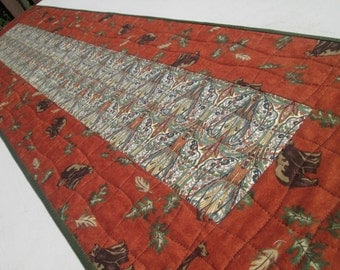 Quilted Rustic Paisley Bear Table Runner