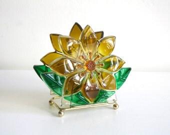 Lucite Sunflower Napkin Holder