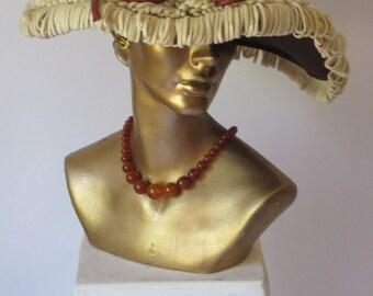 1940s Vintage Fine Fur felt Hat