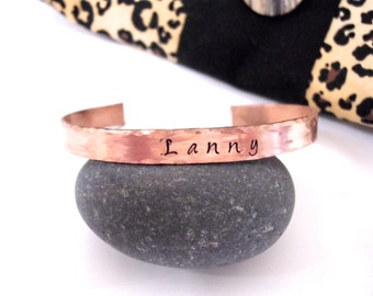 Personalized Cuff Bracelet, Copper Cuff Bracelet, Copper Jewelry, Name Bracelet, Birthday Gift, Copper Bracelet