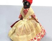Vintage Black Americana Mammy Folk Art Bell - Memorabilia, Souvenir