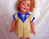 """Vintage 1930's 19""""  Composition Doll Made by Ideal N&T Shirley Temple Doll"""