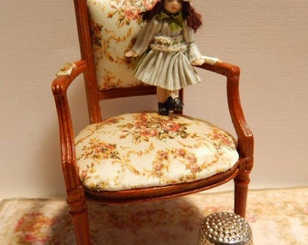 Christine, tiny porcelain doll for your miniature doll.
