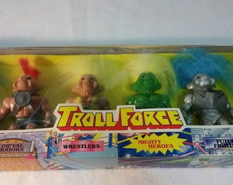 CHRISTMAS in JULY SALE - Troll Force set of 6 action figures from Toys N Things 1992-1993, unopened