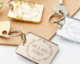 Personalised Wedding Keyring