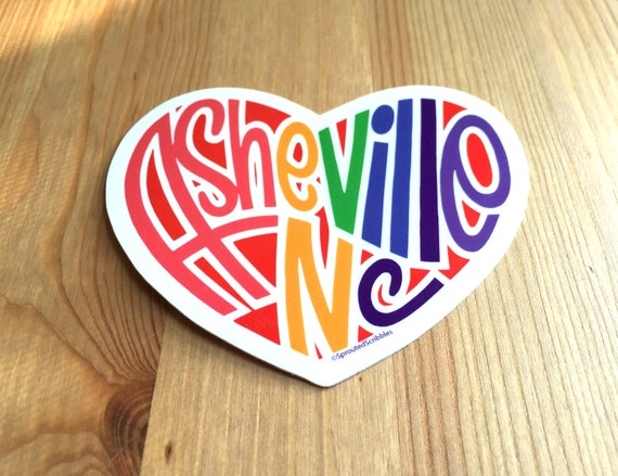 asheville heart sticker asheville north carolina asheville