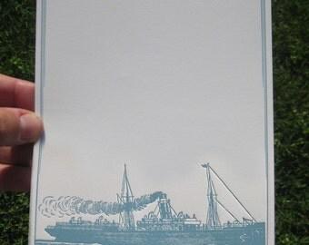 Official Correspondence Royal Tenenbaums inspired letterpress notecard