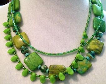 SPRING GREEN!  Magnezite Turquoise LEMON Squares