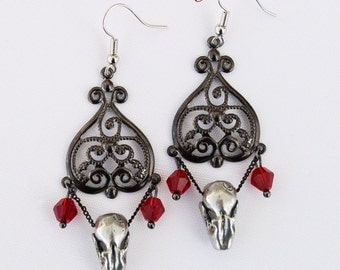 15% off and free standard shipping for July Miyu Decay Noir Filigree Heart Earrings