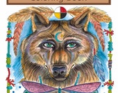 Animal Spirits Coloring Book for you to Color and be the ArTiSt South West Style Art for ALL Ages Adult coloring