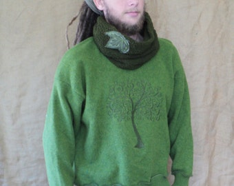 Bio tree of life  leave leaf woodland earthy psychedelic pagan native  sweater pullover
