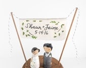 Cake Topper Names - Wedding Banner Cake Topper - anniversary gift - Custom Cake Topper -  Personalized Monogram Cake Topper  - Name Topper