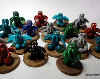 Miniature Itty Bitty Cthulhu - Assorted - Pick your color!