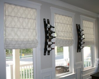 Custom Made to Order Flat Roman Shade