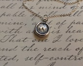 Two Hearts- Forever  Wax Seal Stamp Necklace Fine Silver