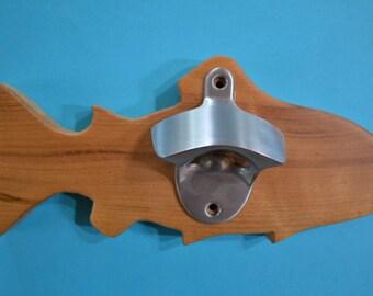 Fish shape wall mounted Bottle Opener