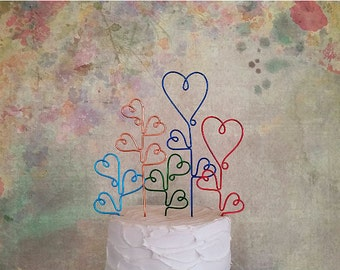 Our Love Grows - Wedding Cake Topper - Custom Wedding Cake Topper, Shabby Chic Wedding Cake Decoration, Personalized Wedding Cake Topper