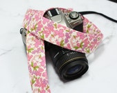 Camera Strap dSLR - Pretty in Pink - SLR Camera Strap - Camera Accessories - Gift for Photographers - Pink Camera Strap - Floral