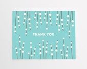Thank You Cards   Ada Patterned Thanks   Turquoise