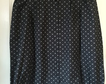 Vintage Black & White Polyester Blouse by Panther
