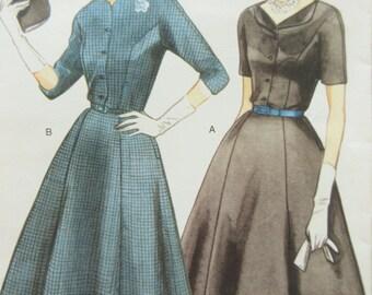 Vogue 2268 Sewing Pattern, 1950s Dress Pattern Reissue, Repro Vogue Pattern, Bust 38, Full Skirt Dress, 1990s Sewing Pattern, Vogue Vintage
