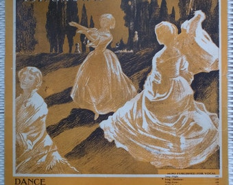 1911 In The Shadows Dance by Herman Finck E Ray Goetz Piano Song Book Sheet Music
