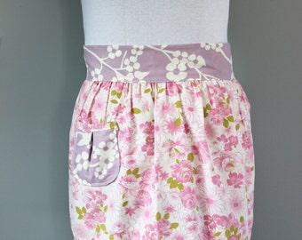Pink and Lavender Upcycled Vintage Apron