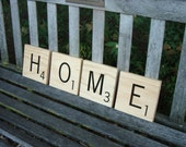 Decorative Scrabble Letters - 4 tiles