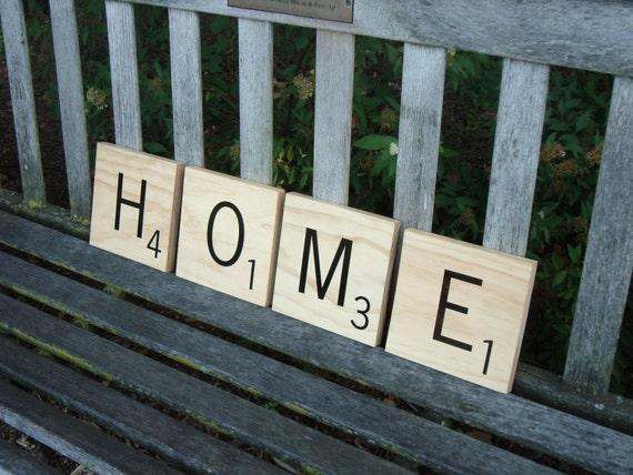 Decorative Scrabble Letters - 4 tiles