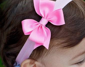 Set of 8 Small Pinwheel Headbands, 100+ colors available, baby headbands, baby girl, Boutique Baby Headband Bow ANY Colors you choose