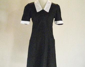 CREST Black Diner Waitress Maid Uniform Dress 10 X
