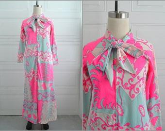 1960s Eduardo Maxi Dress/Housecoat