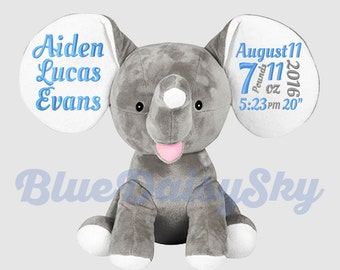 Adorable Personalized Stuffed Animal New Baby Boy Girl