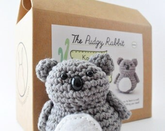 Crochet Koala Kit, Amigurumi Koala Kit, DIY Crochet Kit, Learn to Crochet, DIY Craft